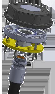 Беспроводной датчик контроля уровня топлива и качества вождения ДУТ-КВ-Р01